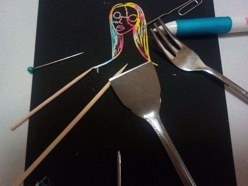 スクラッチアートペンに代用できるものはこの8個