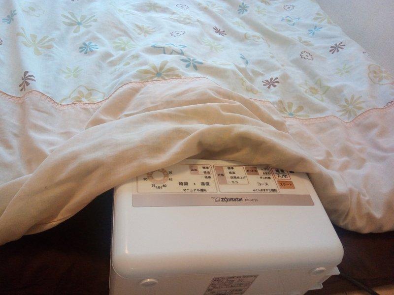 布団乾燥機【象印RF-AC20】の使い方とコツ【コースごと】